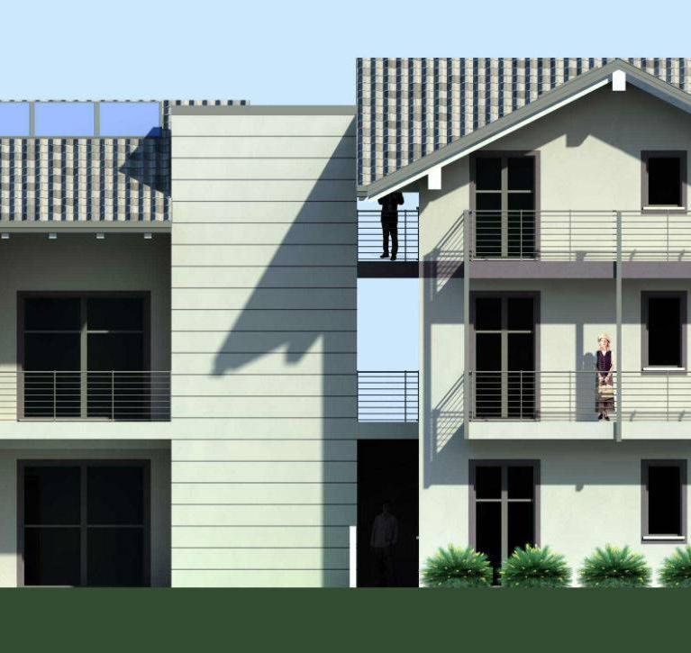 Prospetto Sud Est - Complesso di appartamenti a Colico - Studio Numax