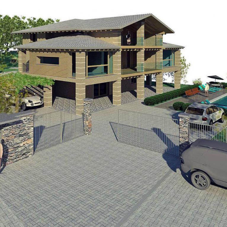 Ristrutturazione dello studio Numax di una  villa a Colico (lc) - Vista Nord