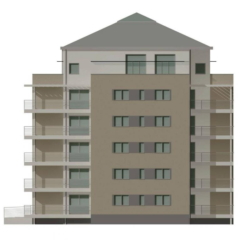 Prospetto Ovest - Condominio a Morbegno dello studio di architettura Numax
