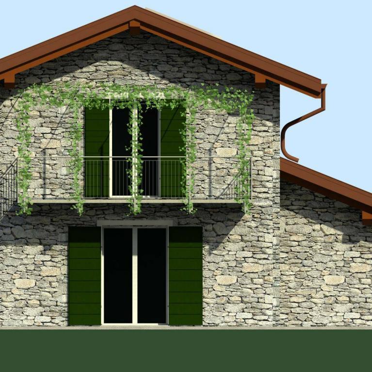 Progetto studio architettura Numax: Rustico a Colico - prospetto sud Ovest
