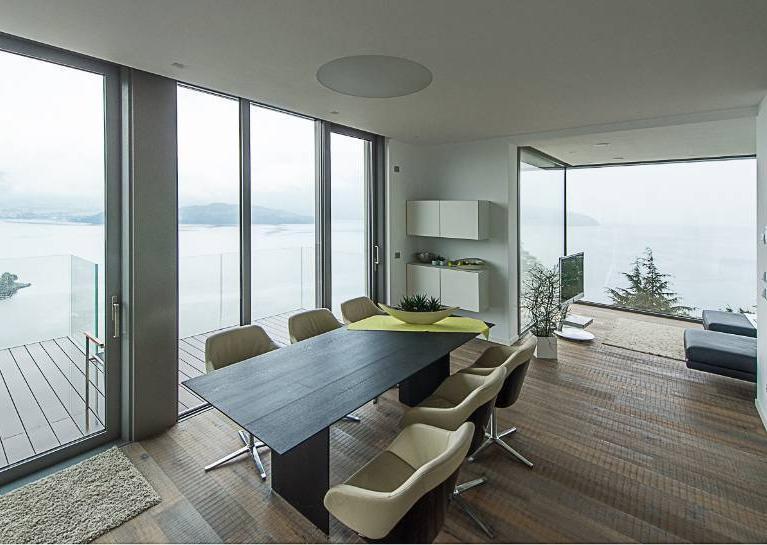 Villa vista lago dello studio architettura Numax di Colico